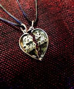 Best Friends Necklace Pendant Heart Sterling Silver Handmade 925 Friendship Love Partner Sisters