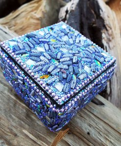 Box Indian Handmade Beaded Trinket Balinese Treasure Chest Jewelry Antique Vintage