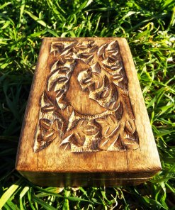 Box Wooden Dolphin Flower Jewelry Carved Handmade Home Decor Indian Floral Mango Tree Wood Trinket Leaf Treasure Chest Eco Friendly
