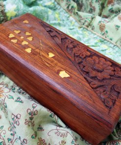 Box Wooden Jewelry Carved Handmade Balinese Home Decor Indian Floral Treasure Chest Trinket 4