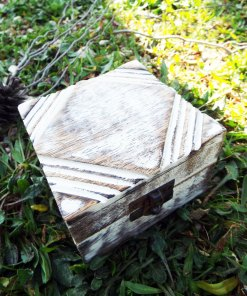 Box Wooden Jewelry Diamond Carved Handmade Antique Vintage Home Decor Mango Tree Wood Trinket Treasure Chest Eco Friendly