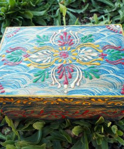 Box Wooden Jewelry Hand Painted Handmade Flower Balinese Home Decor Indian Floral Trinket Treasure Chest