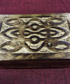 Box Wooden Mango Tree Jewelry Celtic Knot Handmade Carved Eco Friendly Home Decor Trinket