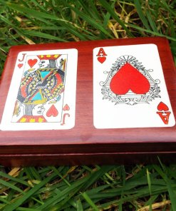 Box Wooden Tarot Playing Cards Reading Handmade Trinket Wood Gothic Magic Magician Red Queen Ace κουτι ξυλινο