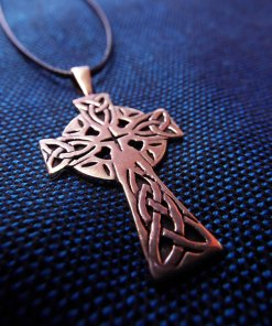 Cross Pendant Crucifix Bronze Symbol Celtic Magic Handmade Jewelry Necklace 1