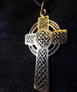 Cross Pendant Crucifix Bronze Symbol Celtic Magic Handmade Jewelry Necklace 2