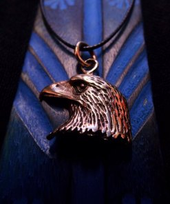 Eagle Pendant Bronze Handmade Necklace Bird Freedom Jewelry