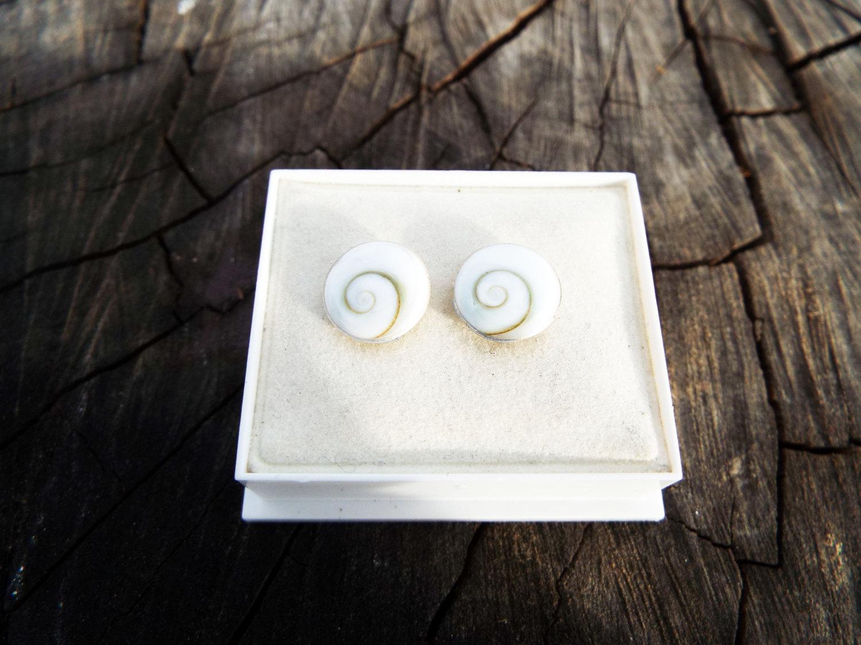 Heart Shiva Eye Ear Stud 925 Silver Shiva Eye Gemstone Heart Earring Jewelry