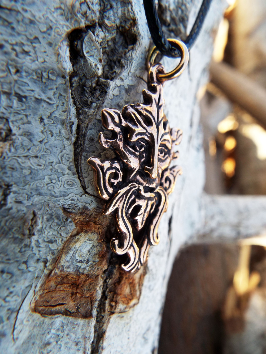Celtic Greenman Armband: Copper Greenman Pendant
