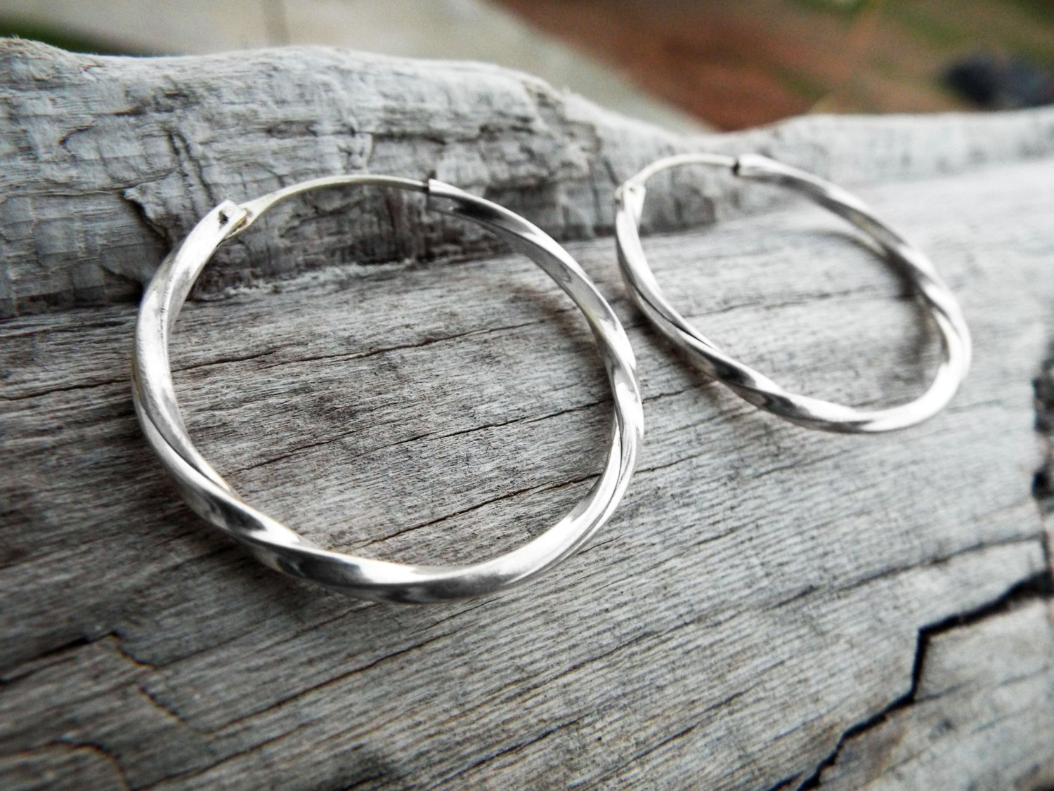 e998896bc Hoop Earrings Silver Bali Balinese Sterling 925 Tribal Handmade Jewelry  Classic Traditional