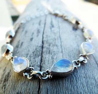 Moonstone Bracelet Silver Cuff Dangle Chain Sterling 925 Handmade Gemstone Gothic Dark Antique Vintage Jewelry ασημι βραχιολι φεγγαροπετρα