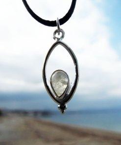 Moonstone Pendant Silver Handmade Rainbow Moonstone Gemstone Sterling 925 Necklace Boho Antique Vintage Gothic Dark
