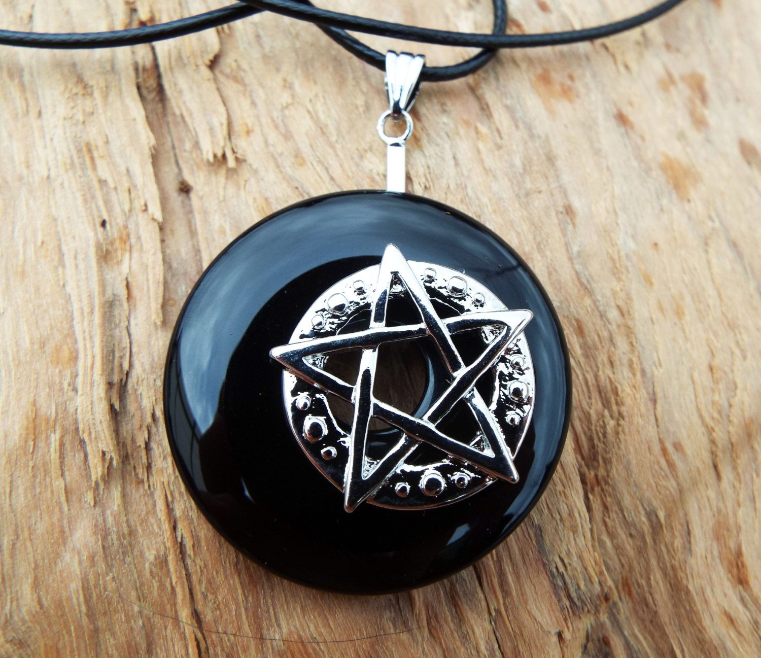 Protection Protection Pentagram  Pewter Pendant