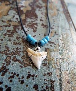 Shark Tooth Necklace Pendant Handmade Real Jewelry Sea Ocean Beach Tribal
