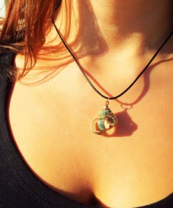 Spiral Seashell Handmade Necklace Pendant Sea Ocean Beach Summer Bohemian Bronze Jewelry