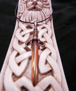 Sword Dragon Pendant Claw Bronze Magic Dark Gothic Battle Strength