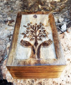 Tree of Life Celtic Box Chest Handmade Trinket Wood Mango Tree Eco Friendly Symbol