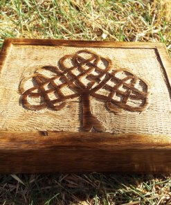 Tree of Life Celtic Box Chest Handmade Trinket Wood Mango Tree Eco Friendly Symbol Jewelry
