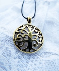 Tree of Life Celtic Pendant Protection Gustav Klimt Tree Handmade Necklace Gothic Dark Jewelry Symbol Bronze