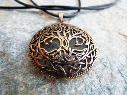 Tree of Life Pendant Handmade Necklace Protection Celtic Sterling 925 Gothic Dark Jewelry Symbol Nature Bronze
