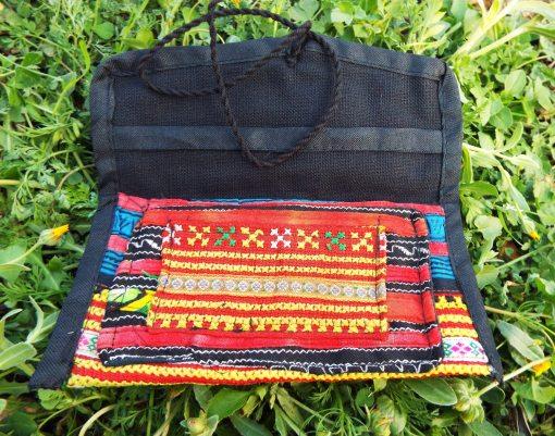 Tobacco Pouch Cotton Handmade Aztec Fabric Lotus Flower Case Pocket Hand Stitched Hippie Boho