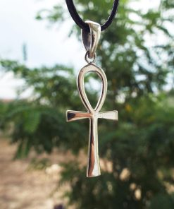 Ankh Pendant Cross Egyptian Silver Handmade Necklace Sterling 925 Crucifix Jewelry