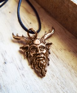 Dionysus Panas Pendant Handmade Necklace Ancient Greek God Symbol Gothic Jewelry