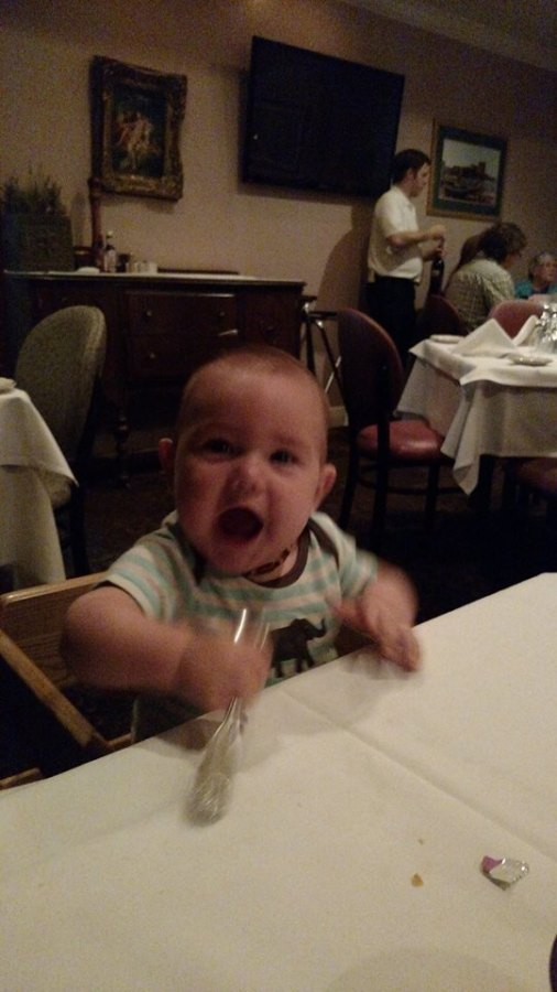First time in a high chair