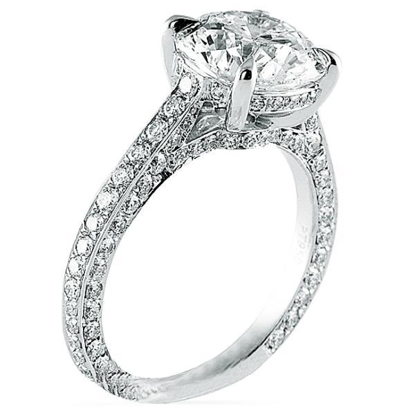 Three Sided Engagement Ring Setting