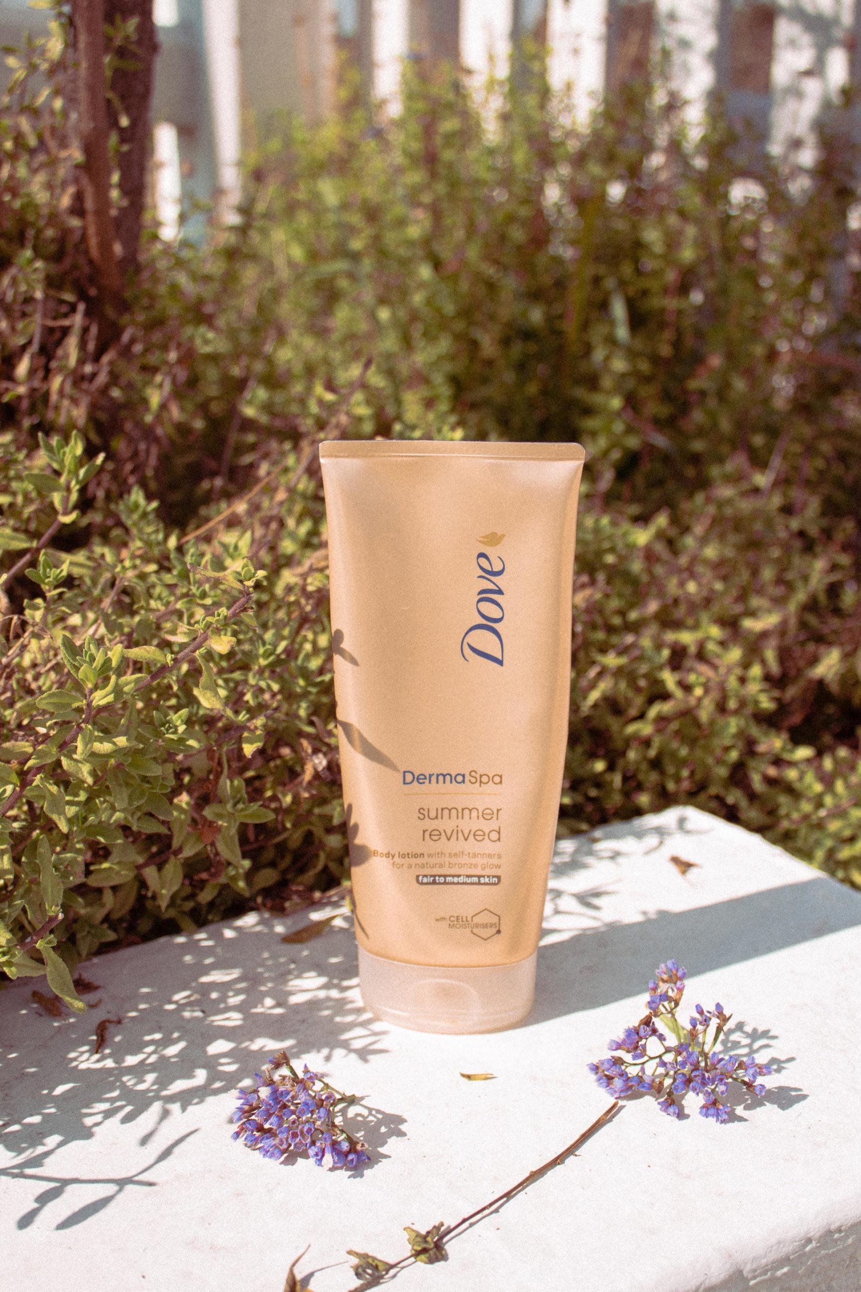 Body cream product in garden