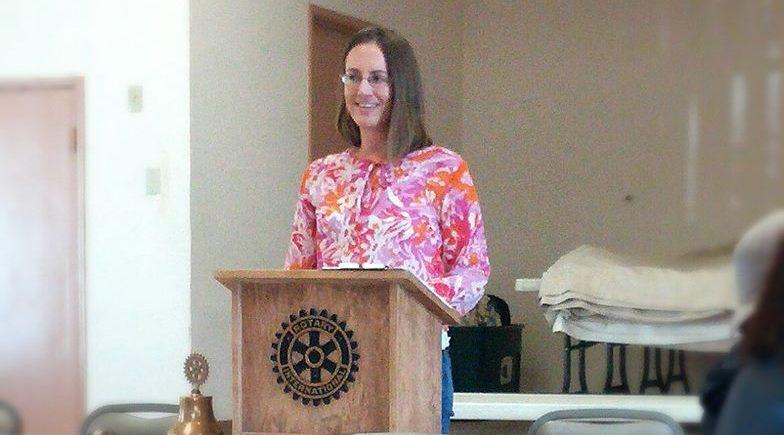 Lauren Ell speaking for Rotary in Twentynine Palms, CA