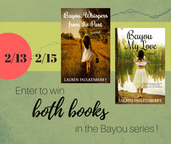 Enter to win both books in the Bayou series