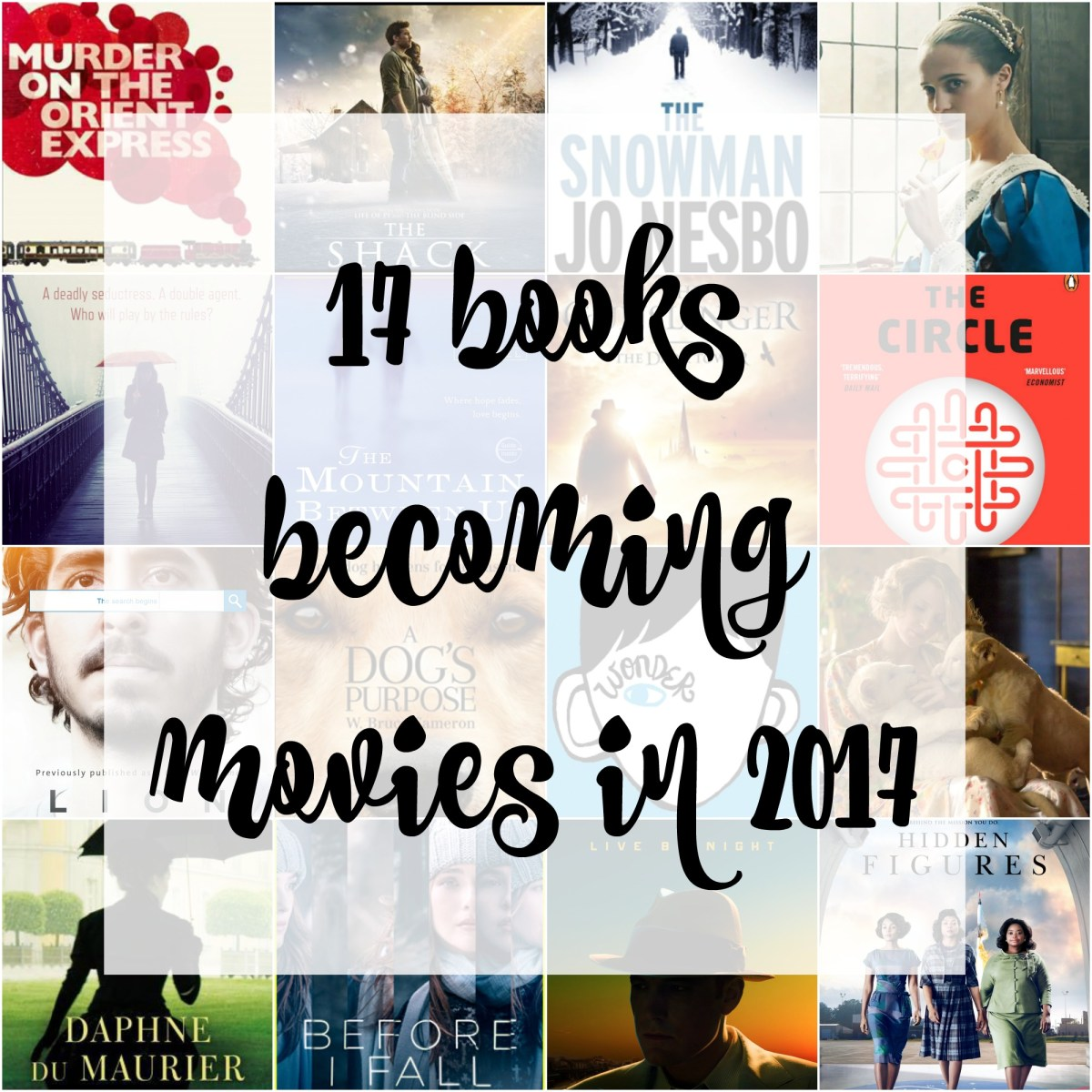 17 books becoming movies in 2017