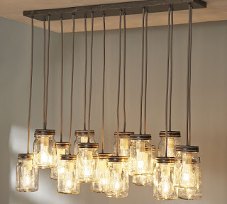 Pottery Barn Inspired Mason Jar Chandelier
