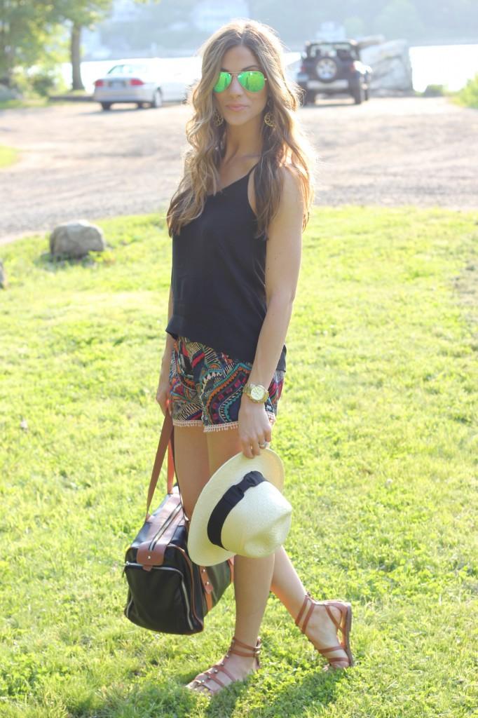 Printed Shorts, Sarah Wells Bag