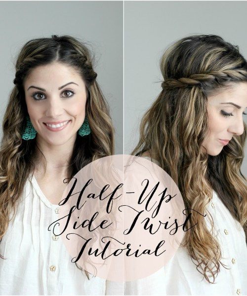 Half Up Side Twist Tutorial and #LoveYourCurls