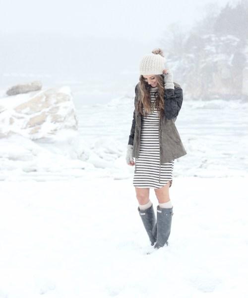 Stripes on a Frozen Beach