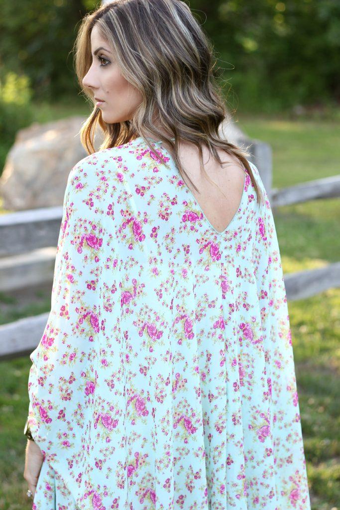 Pink Blush Maternity Kimono, Maternity Style