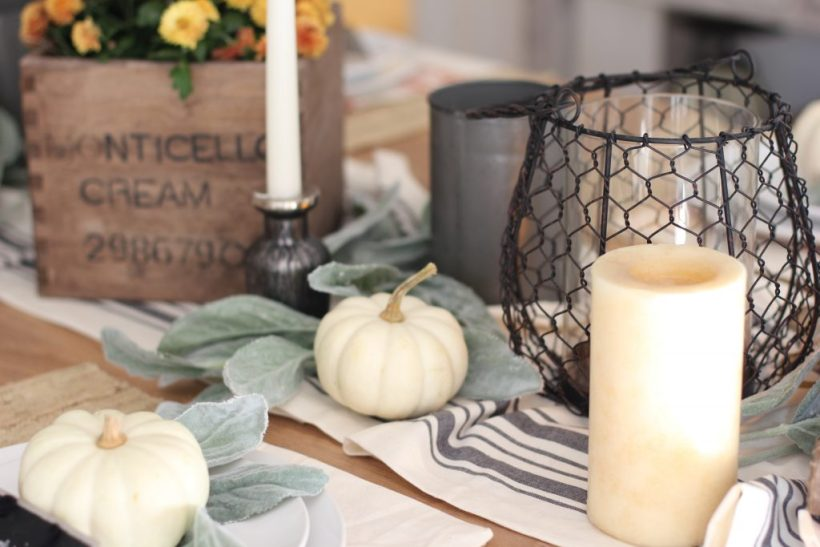Rustic Halloween Dining Table Decor with World Market - Lauren McBride