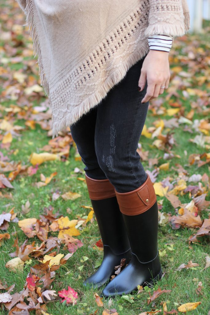 Fall boot trends and how to wear them, fall fashion and how to style rainboots