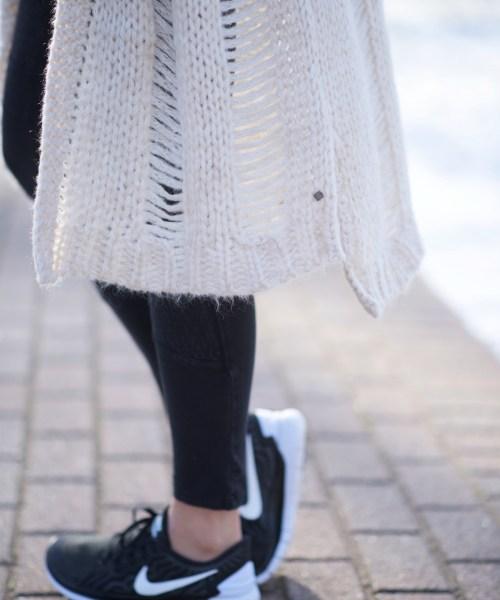 Distressed Knit Cardigan
