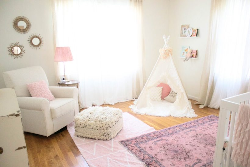 Bookmark this! Want to see how we brought this Bohemian Girl's Nursery them to life?