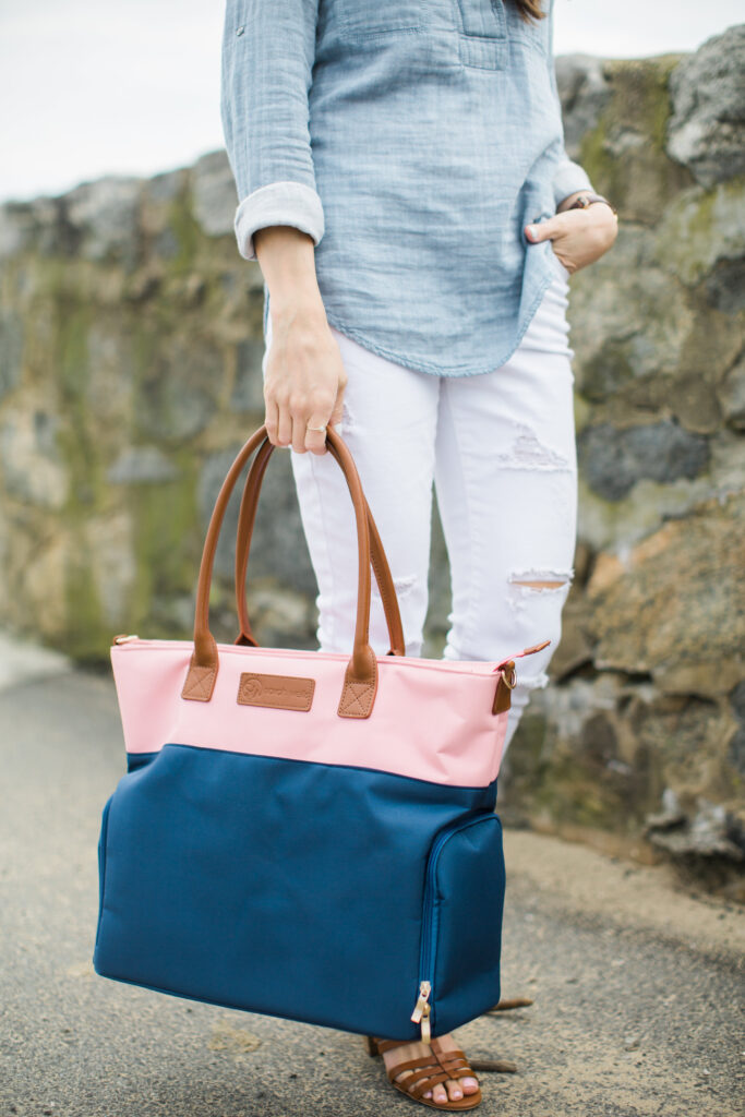 Sarah Wells Abby Breast Pump Bag and what to pack in your breast pump bag