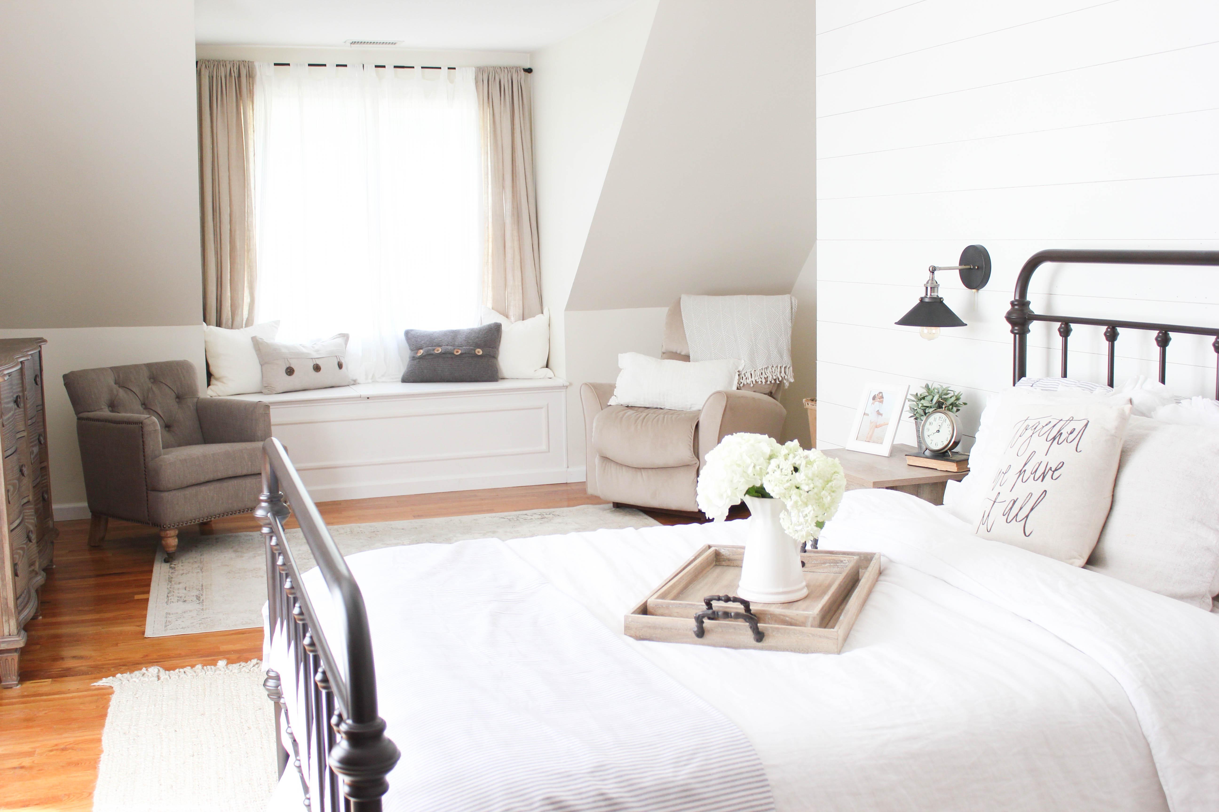 Home // Farmhouse Master Bedroom - Lauren McBride on Master Bedroom Farmhouse Bedroom Images  id=58863