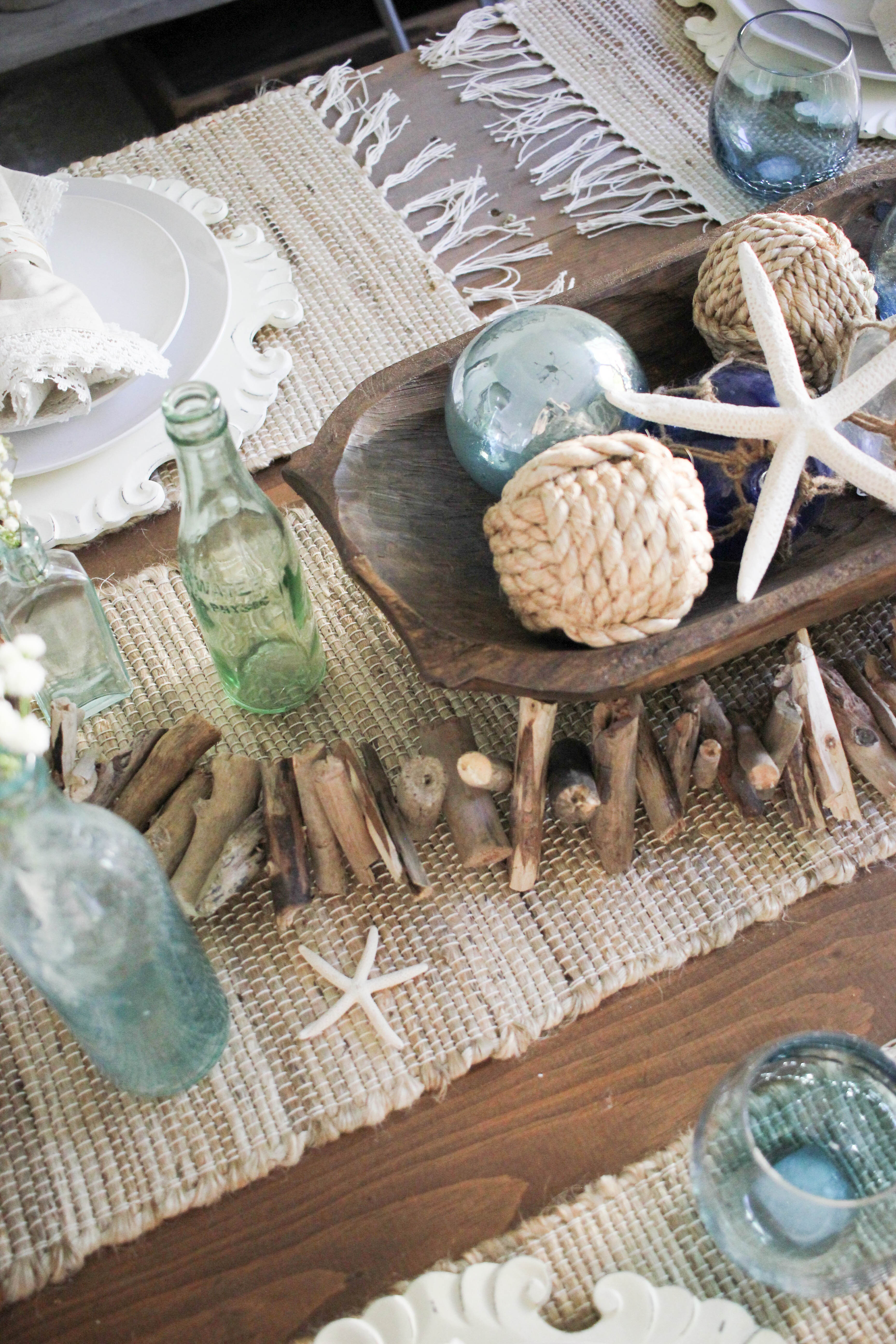 Home Coastal Farmhouse Tablescape Lauren Mcbride