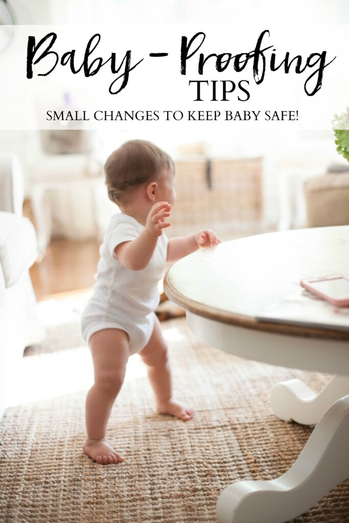 Simple baby-proofing tips that will help keep your little one safe when they start becoming mobile!