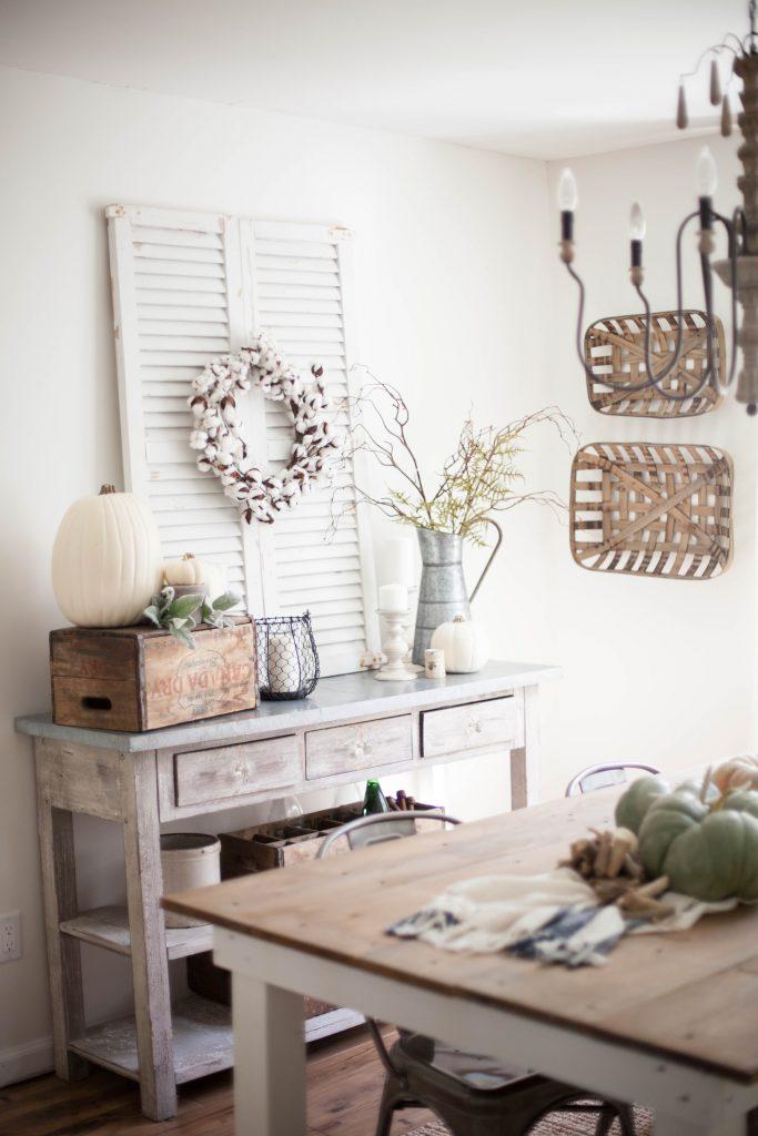 Home // Fall Farmhouse Dining Room - Lauren McBride on Dining Room Curtains Farmhouse  id=89393