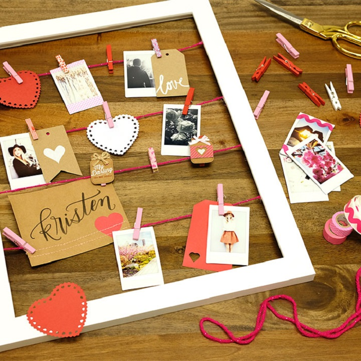 DIY Valentine's Day Photo Frame at the Fujifilm Wonder Photo Shop NYC!