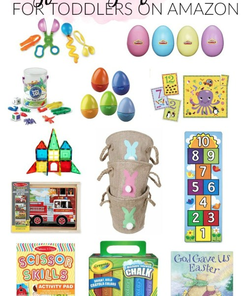 Mom + Baby // Easter Basket Gift Ideas for Toddlers on Amazon