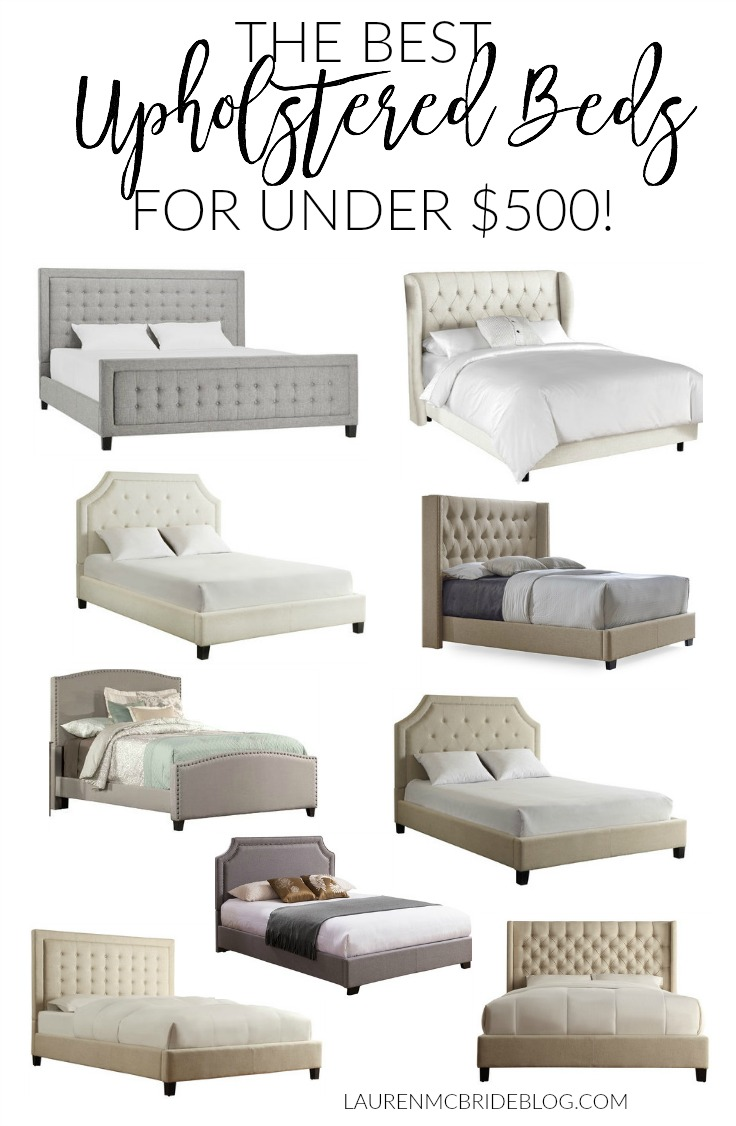 these are the best upholstered beds under 500 featuring tufted and nailhead styles